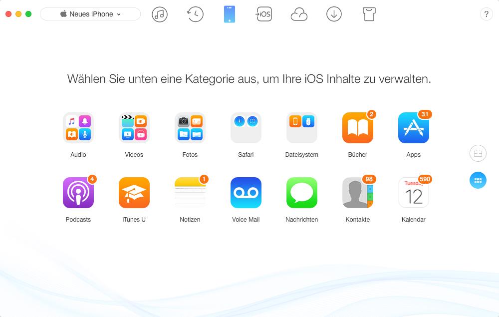 Unnötige Dateien vom iPhone mit AnyTrans löschen