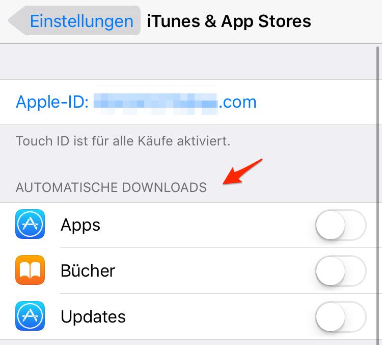 Automatische Downloads deaktivieren – iPhone 7(Plus) schneller machen