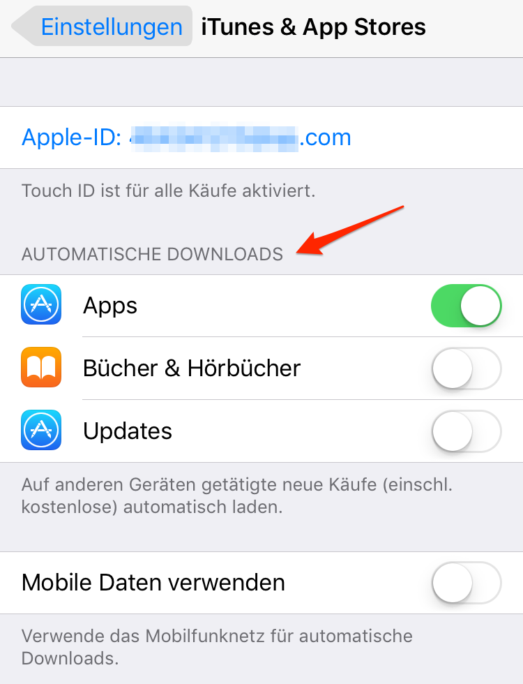 iOS 11/11.1-Gerät beschleunigen – App Updates deaktivieren