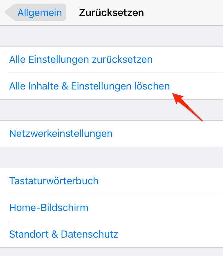 iPhone zurücksetzen – iOS 11/11.1-Gerät schneller machen