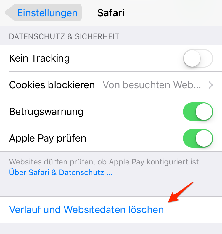 Safari Verlauf löschen – iOS 11/11.1-Gerät beschleunigen