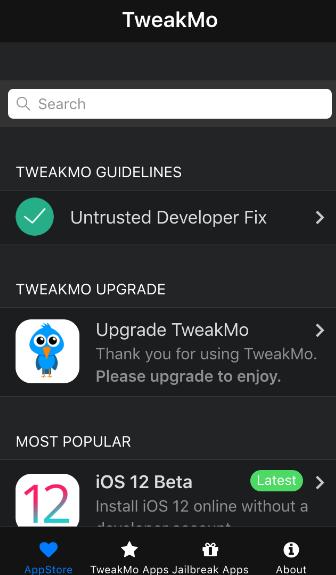iOS Jailbreak - mit TweakMo