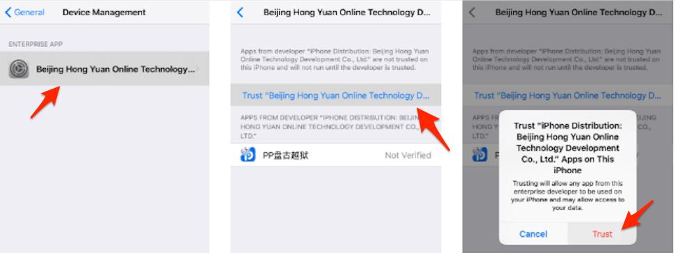 iPhone/iPad Jailbreak mit Pangu – Schritt 2