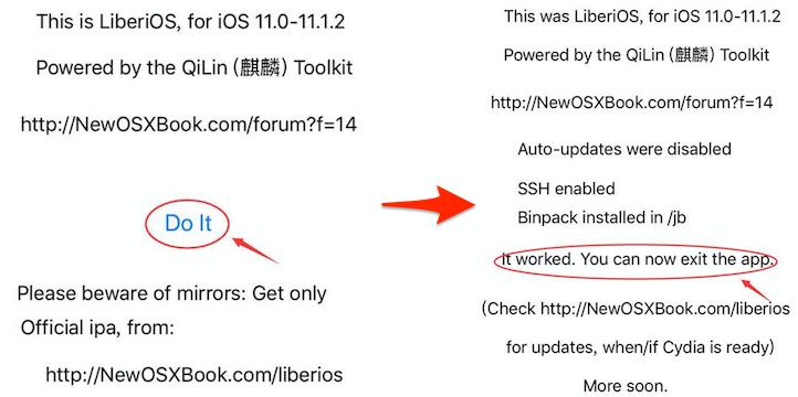 iOS 10/11/11.1/11.1.2 Jailbreak – LiberiOS