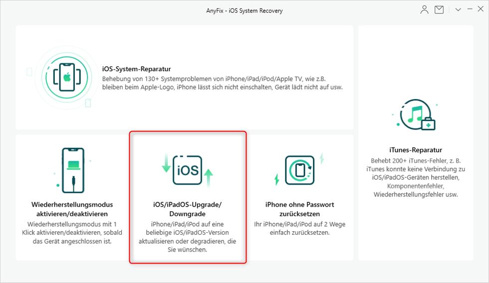 iOS oder iPadOS upgraden oder downgraden