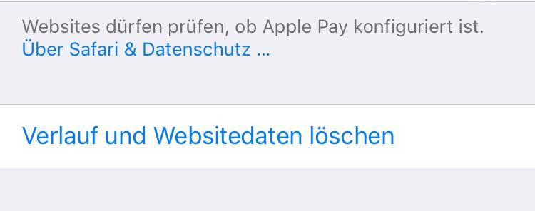 iOS 11 Safari Probleme – Safari Verlauf löschen