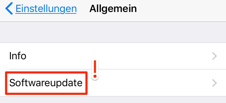 iOS 11/11.1 Update nicht angezeigt wird