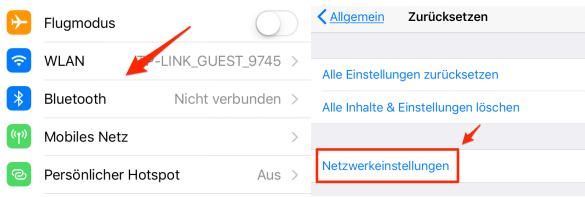 Netzverbindung überprüfen - iOS 11/11.1 noch nicht verfügbar