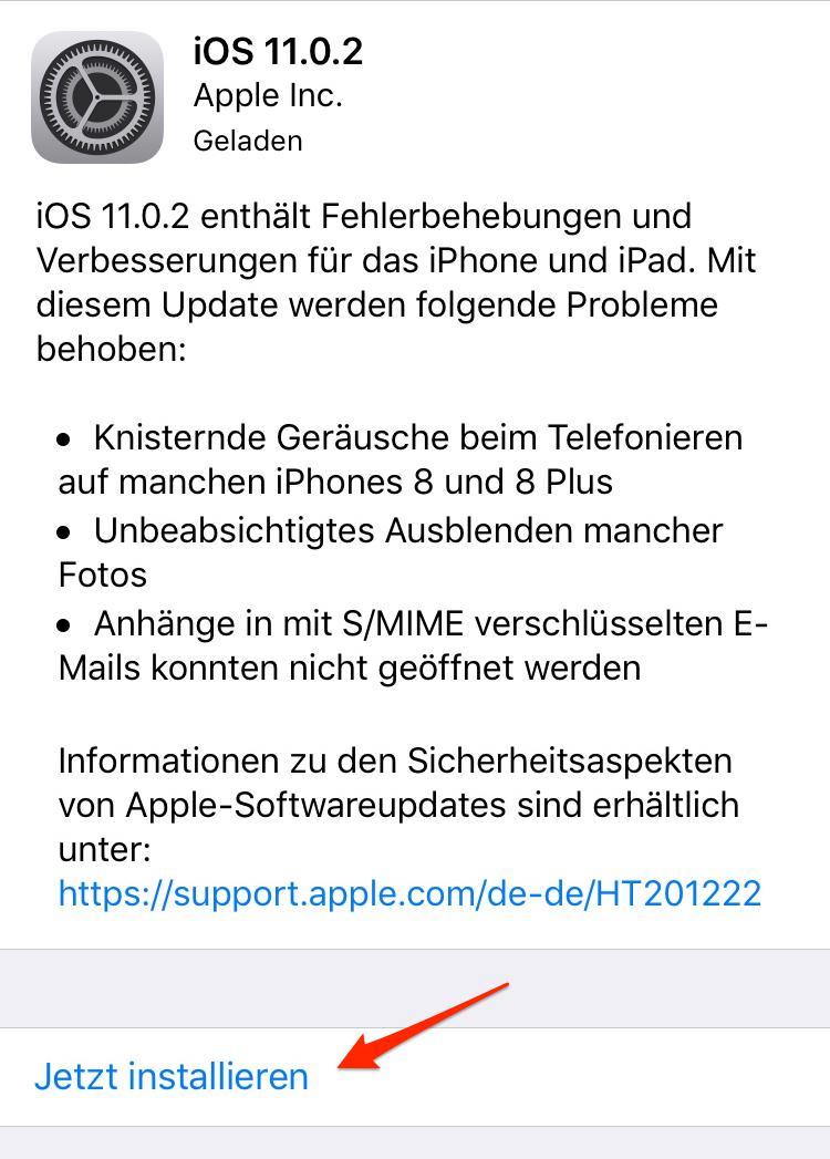 iOS 11 WLAN geht immer an – auf neue iOS 11 Version updaten