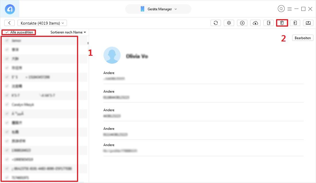 alle Mails löschen iPad - Schritt 3