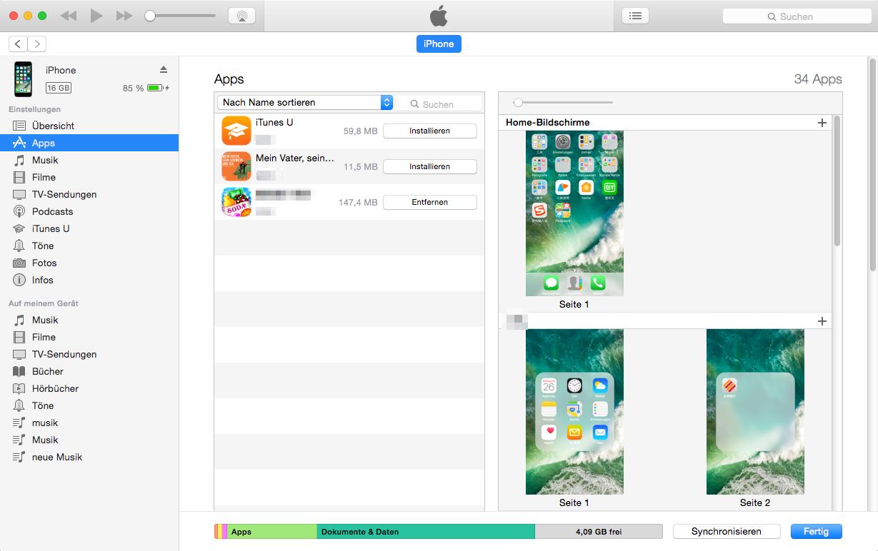 Über iTunes kann man iPad als USB-Stick verwenden