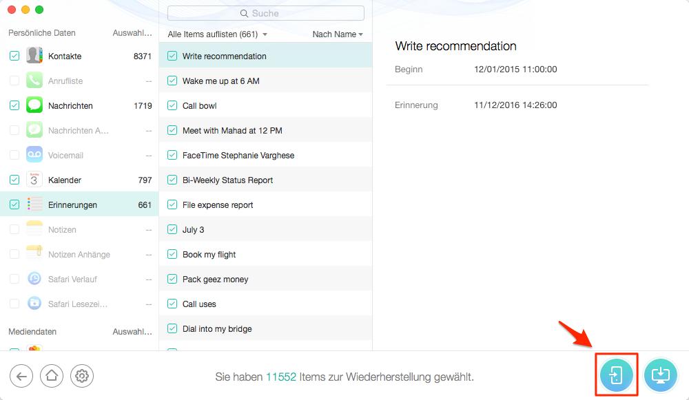 iPad aus iCloud wiederherstellen – Schritt 5