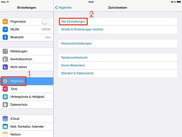 iPad Bildschirm dreht sich nicht unter iOS 10/11 – Tipp
