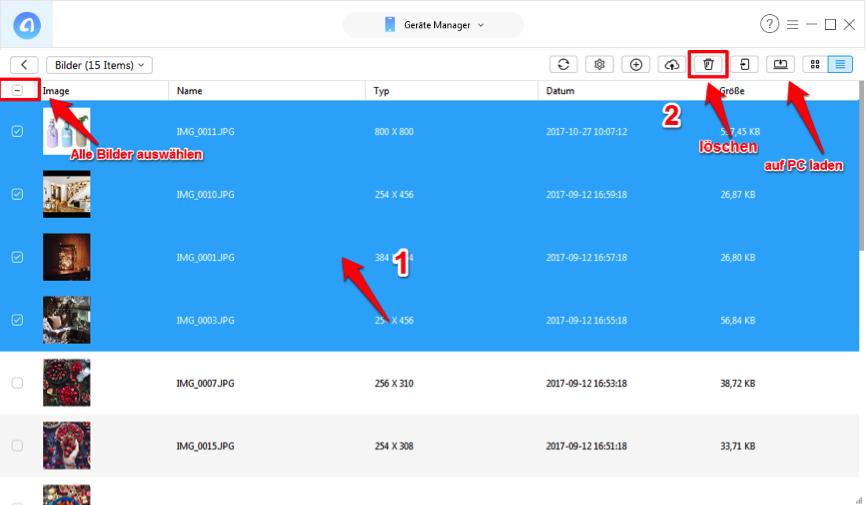 iPad schneller machen – große Dateien löschen