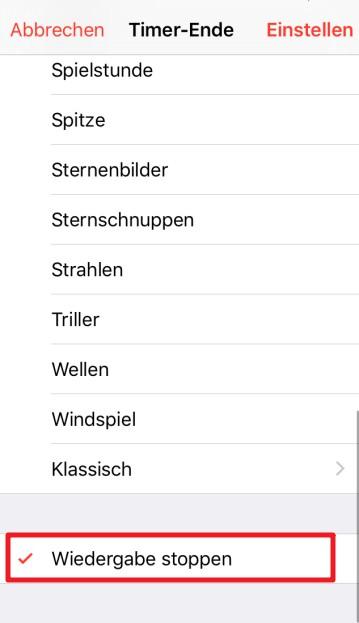 iOS 12 Sleep Timer erstellen