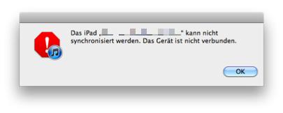 iPad synchronisiert nicht
