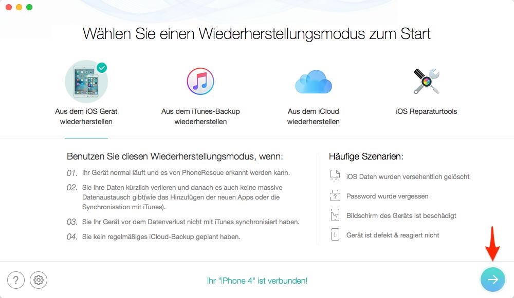 iPhone 4 an den Computer anschließen – Schritt 2