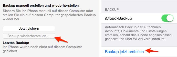 iPhone 6/6s gelöschte Fotos mit iTunes- oder iCloud-Backup wiederherstellen
