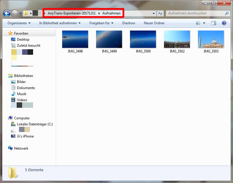 iPhone Bilder auf PC/Mac übertragen - Schritt 4