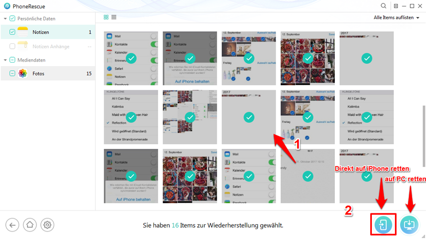 iPhone X/8 Backup wiederherstellen – Schritt 4