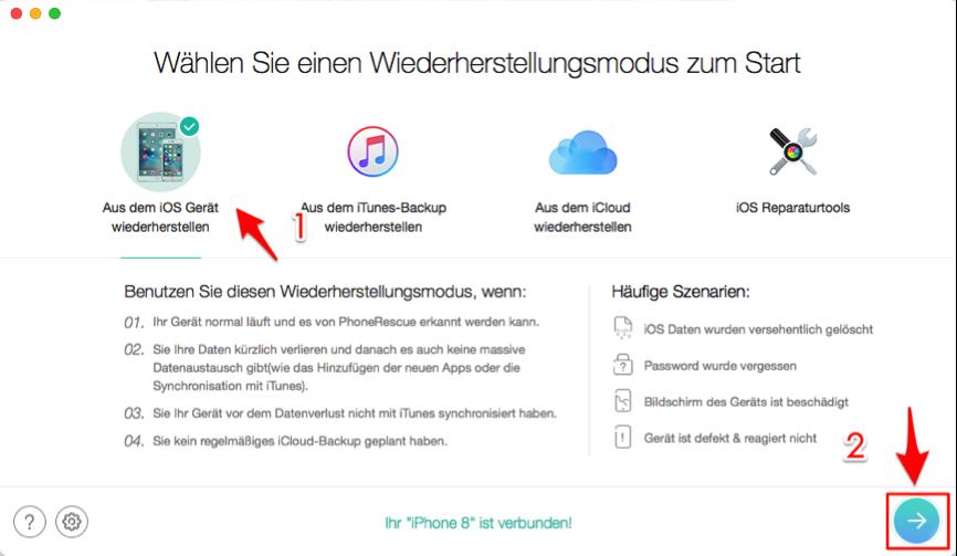 iPhone X/8 iMessage wiederherstellen – direkt aus iPhone