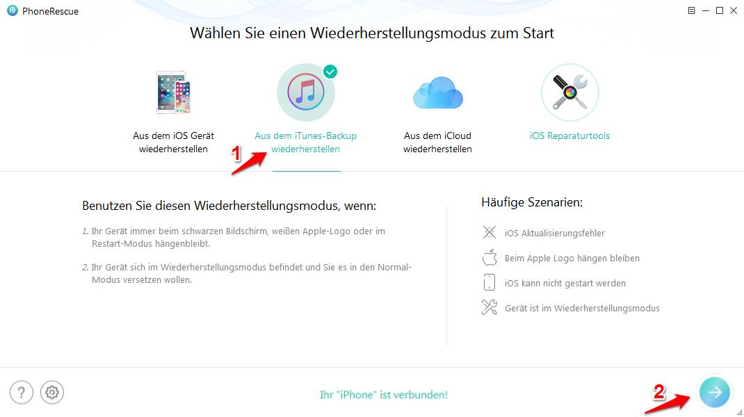 iPhone älteres Backup wiederherstellen – von iTunes