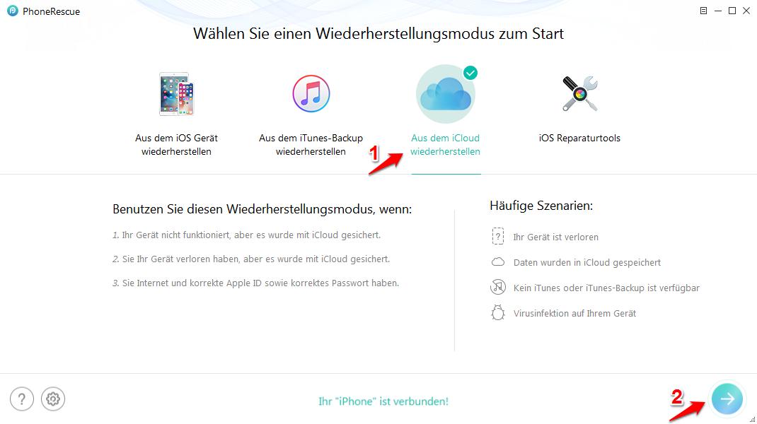 iPhone älteres Backup wiederherstellen – von iCloud