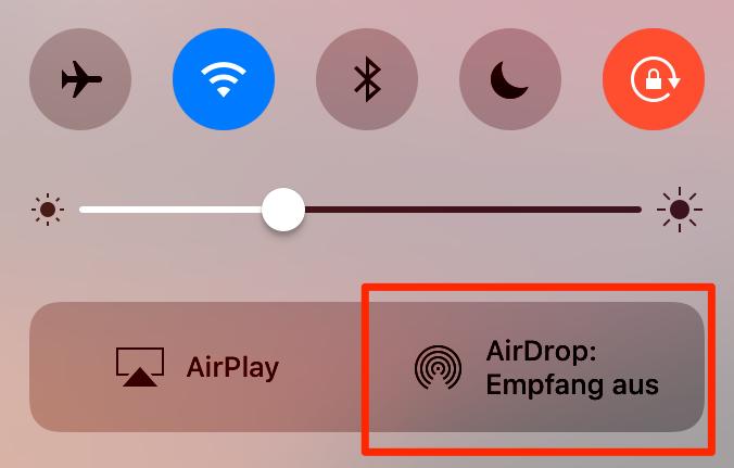 iPhone 7 Akku schnell leer – AirDrop aktivieren