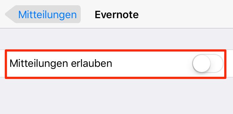 iPhone 8 Akku schnell leer:Mittelungen ausschalte
