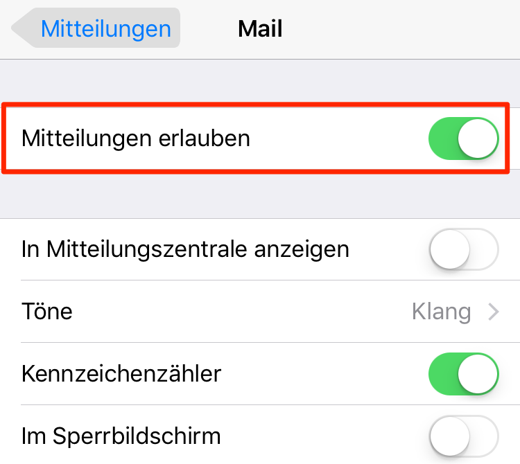 Mails manuell abrufen – iPhone 7 Akku schnell leer