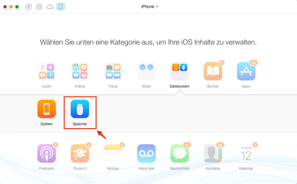iPhone als USB-Speicher verwenden - Schritt 2
