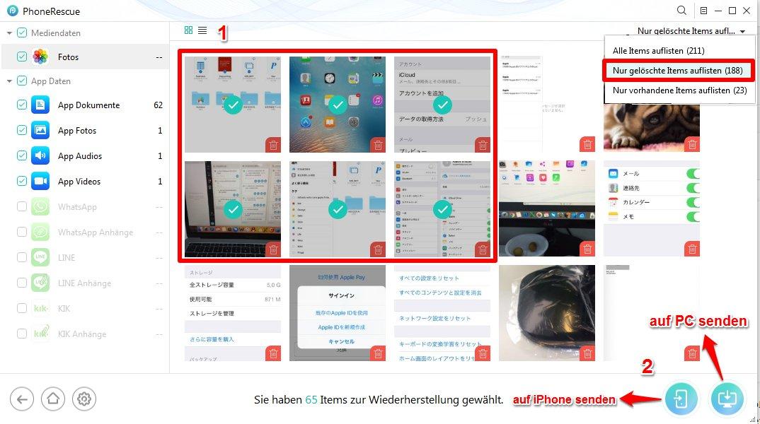 iPhone alte Bilder retten - Schritt 3