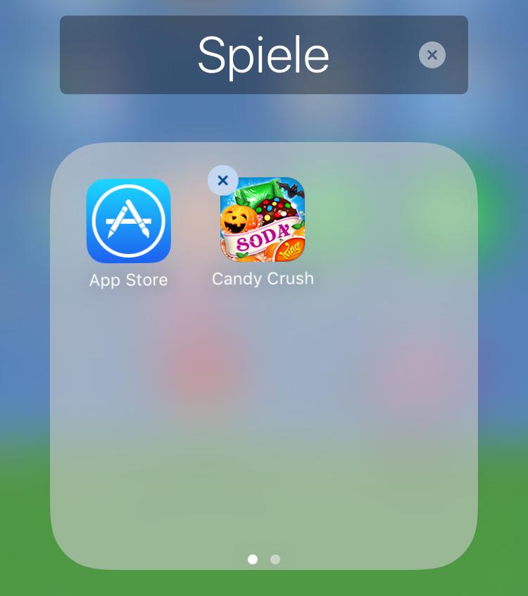 iPhone verschwundene Apps direkt suchen