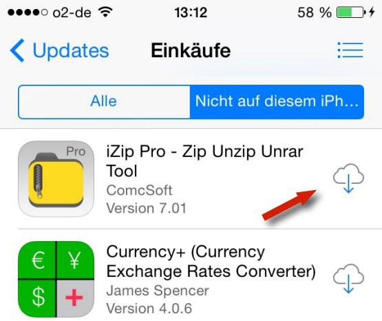 iPhone App verschwunden –aus GIGA