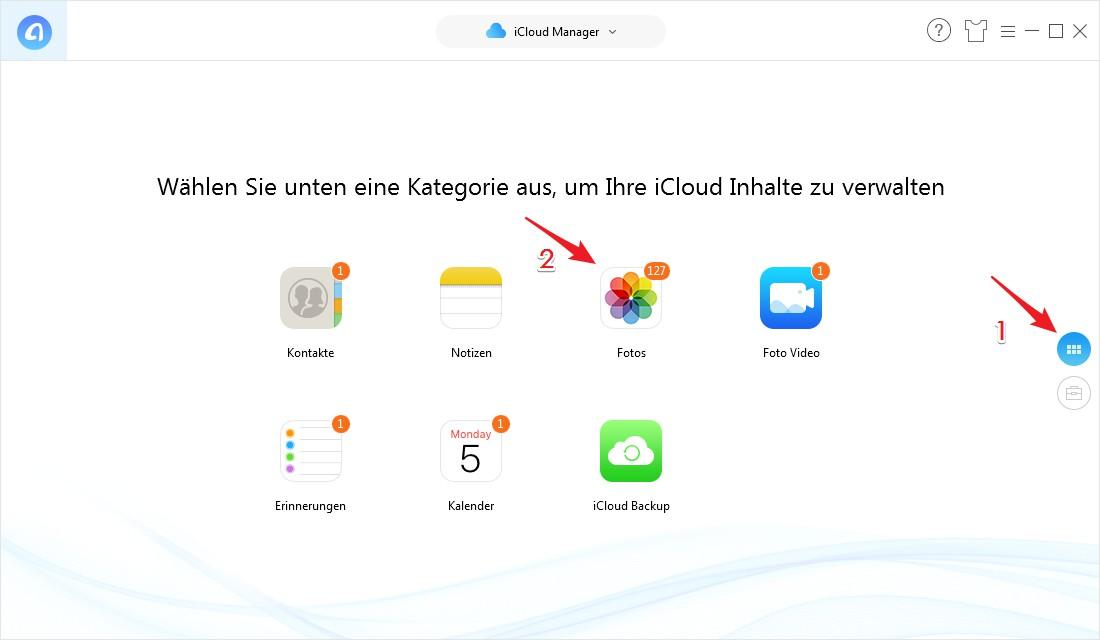 Wie kann man Daten von iPhone auf iCloud löschen - Schritt 3
