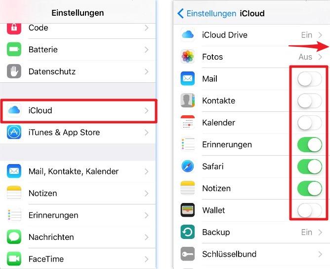 Wie kann man iPhone auf iCloud löschen