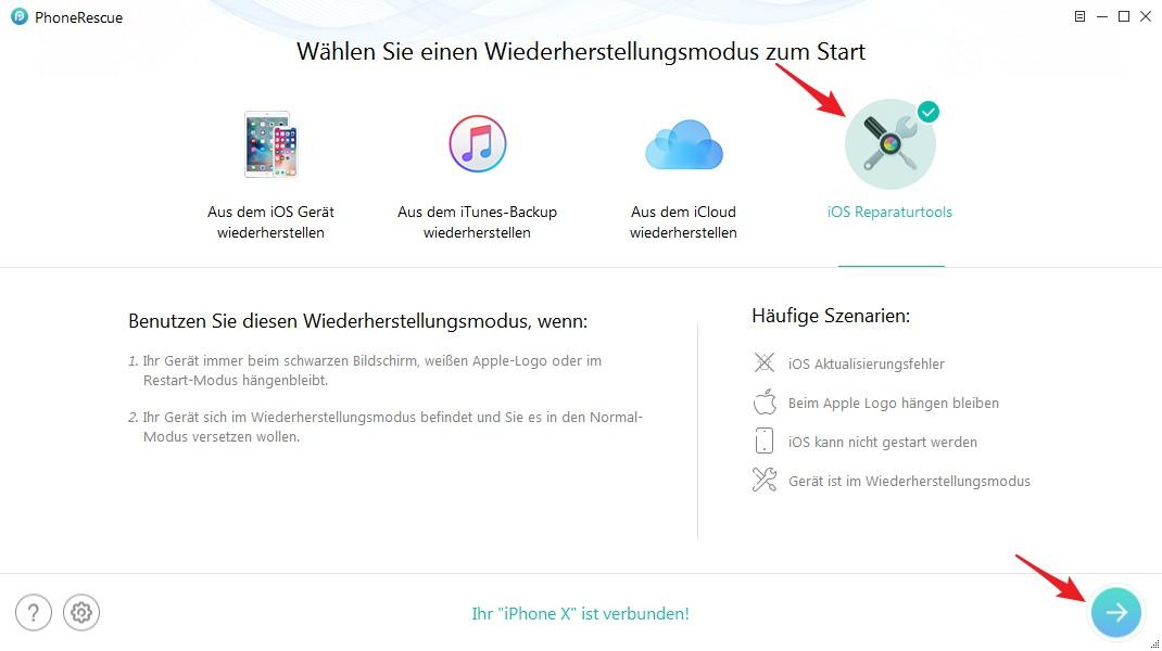 iPhone auf Werkseinstellungen zurücksetzen ohne PC - Schritt 1