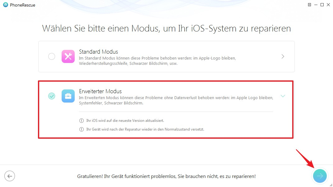 iPhone auf Werkseinstellungen zurücksetzen ohne Code - Schritt 2