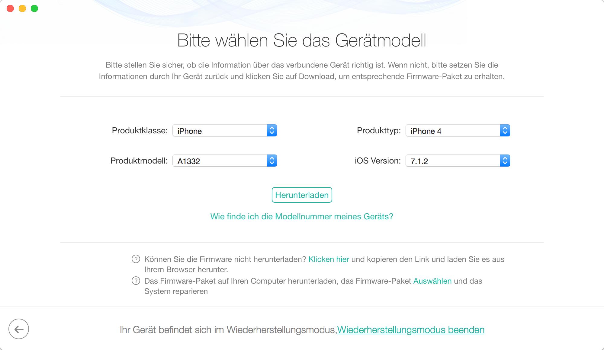 iPhone 6 auf Werkseinstellung zurücksetzen - Schritt 3