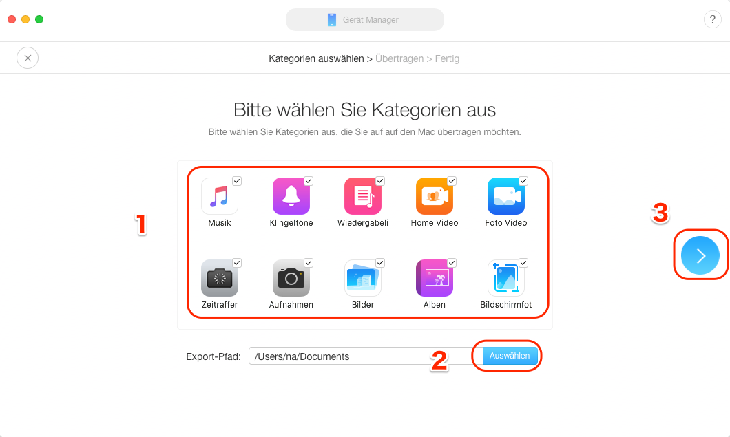iPhone Backup auf Mac - Schritt 2