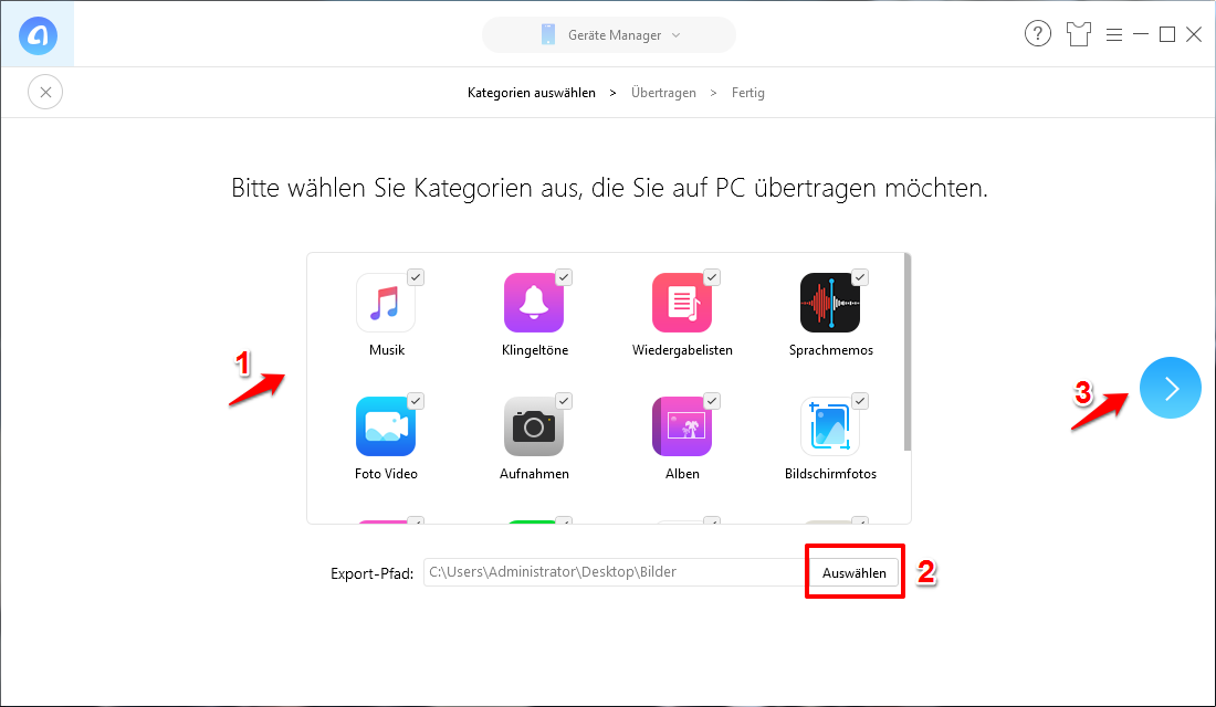 Backup iPhone ohne WLAN – Schritt 2
