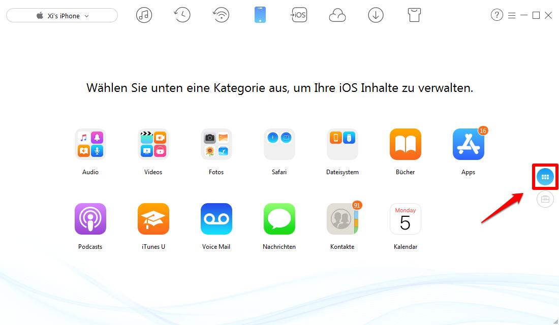 iPhone Bilder auf Computer übertragen – Schritt 1