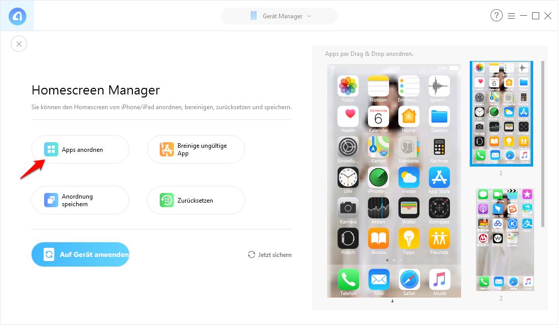 iPhone Bildschirm auf PC - Schritt 2