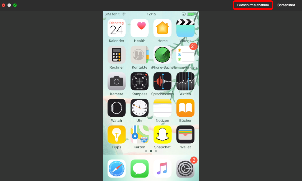 iphone-bildschirm-aufnahmen