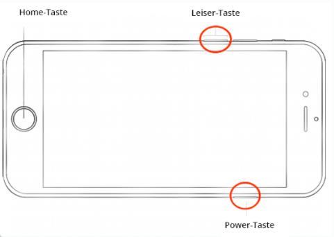 iPhone Bildschirm schwarz aber funktioniert - das iPhone neu starten