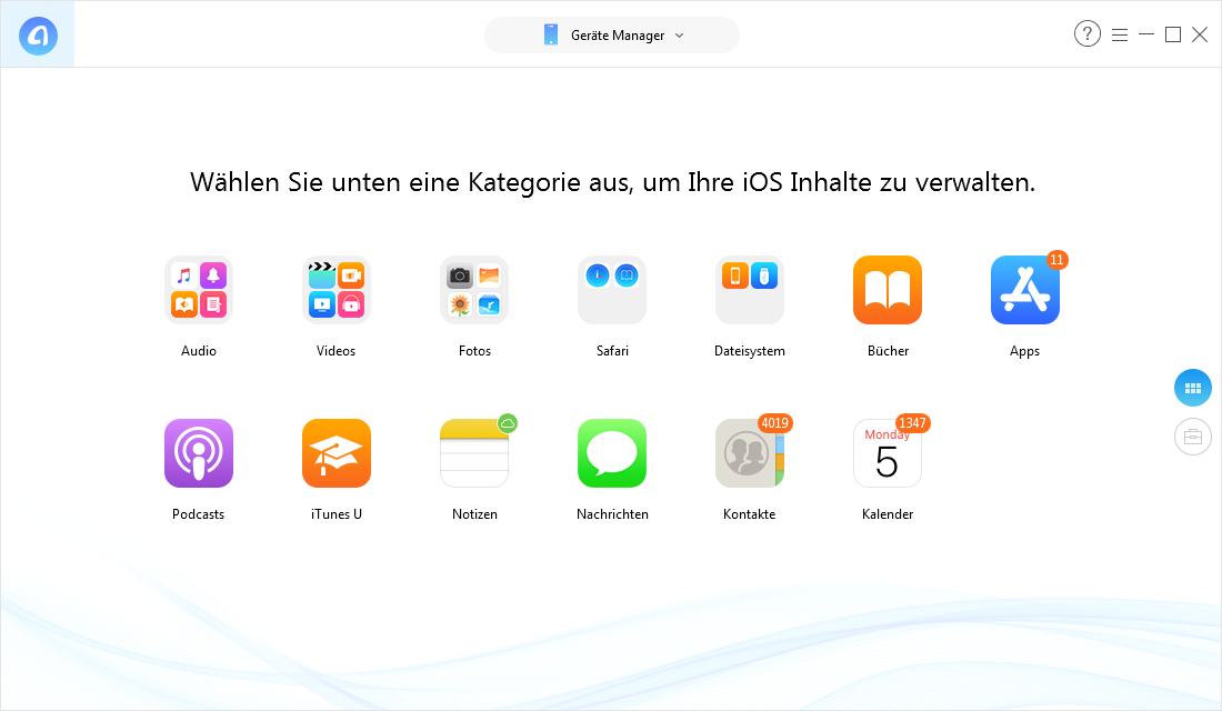 Professioneller Dateimanager vom iPhone – AnyTrans für iOS