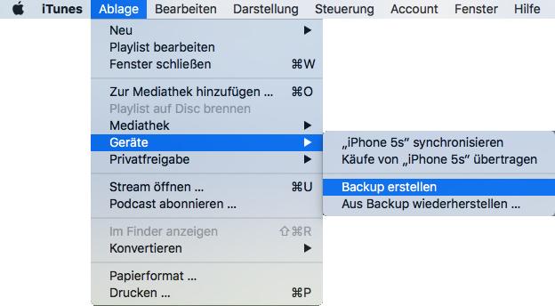 iPhone Daten mit iTunes auf PC einfach sichern