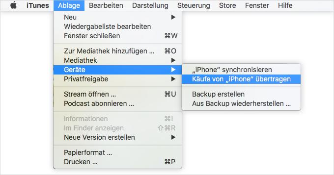 iPhone Daten sichern: mit iTunes – Schritt 3