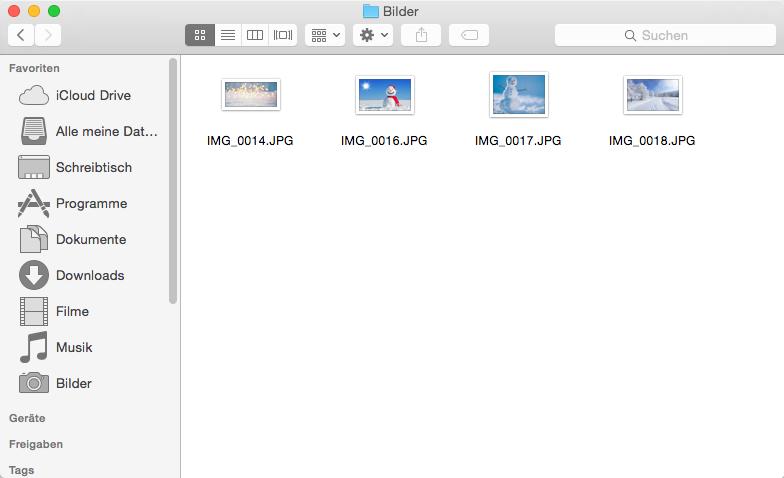 iPhone Fotos auf Mac selektiv übertragen