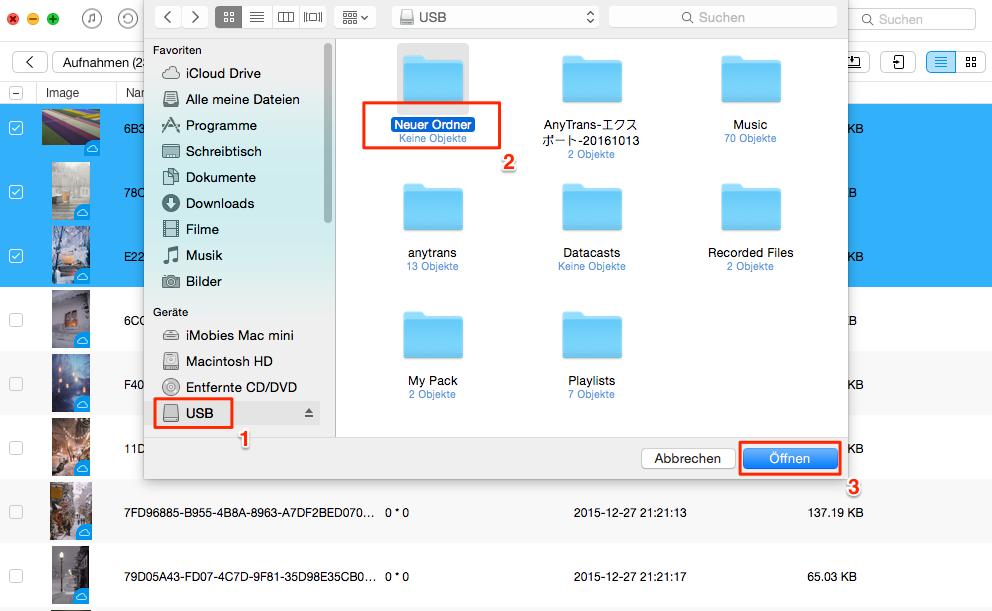 Direkt! Fotos vom iPhone auf USB-Stick übertragen – Schritt 3